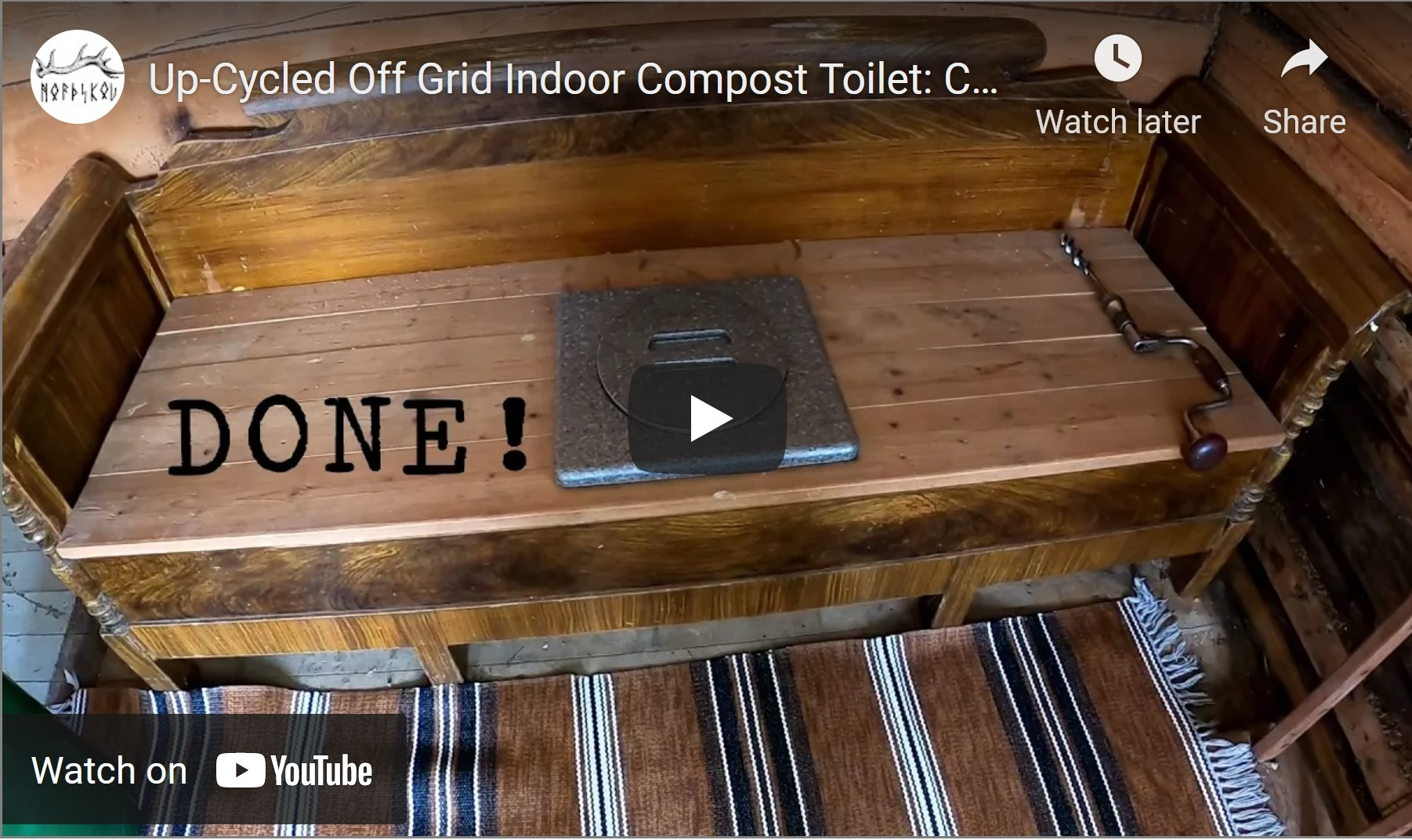 Up-Cycled Off Grid Indoor Compost Toilet